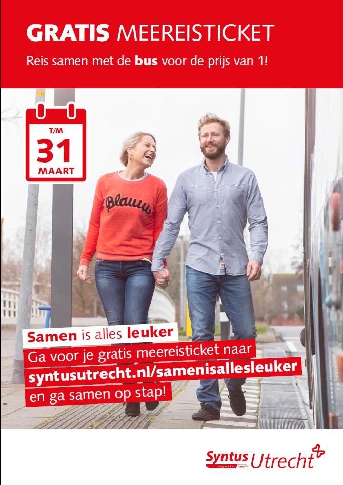 Actie: Gratis meereisticket Syntus Utrecht