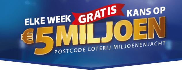 1 maand gratis meespelen met Postcode Loterij