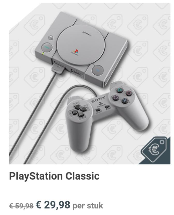 PlayStation Classic voor €29.98 bij GameMania