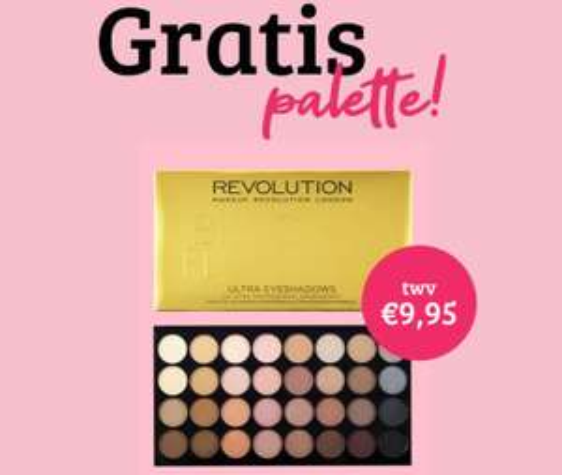 Gratis Revolution palette t.w.v. €9,95 (va €30) @ Boozyshop